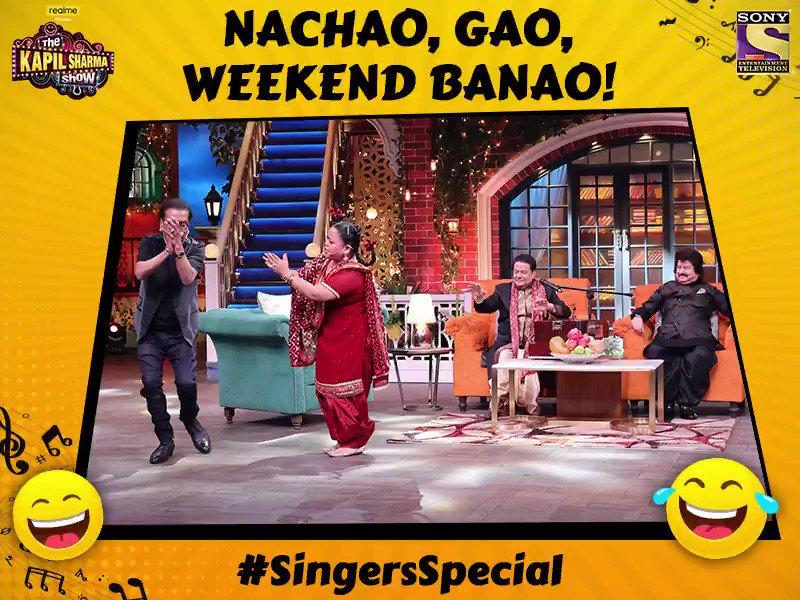 Singing + Dancing + Laughing = Perfect package of entertainment. Meet our special guests Hariharan, Anup Jalota aur Pankaj Udhas only on #TheKapilSharmaShow tonight at 9:30 PM. @KapilSharmaK9 @kikusharda @Krushna_KAS  @sumona24 @banijayasia @haanjichandan @bharti_lalli