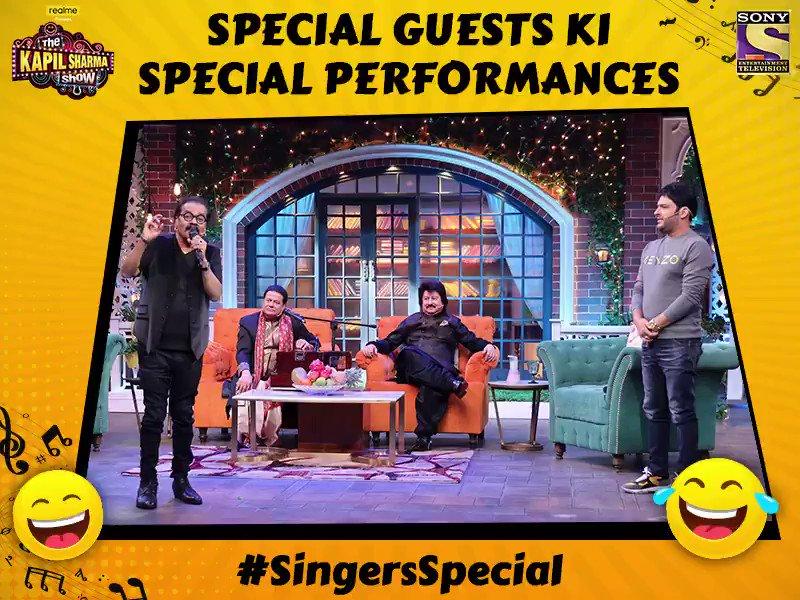 Agar aap taiyaar hai dekhne humaare special guests ki special performances toh comment kijiye 😍 aur miliye Hariharan, Anup Jalota aur Pankaj Udhas se #TheKapilSharmaShow mein aaj raat 9:30 baje. @KapilSharmaK9 @kikusharda @Krushna_KAS  @sumona24 @banijayasia @haanjichandan