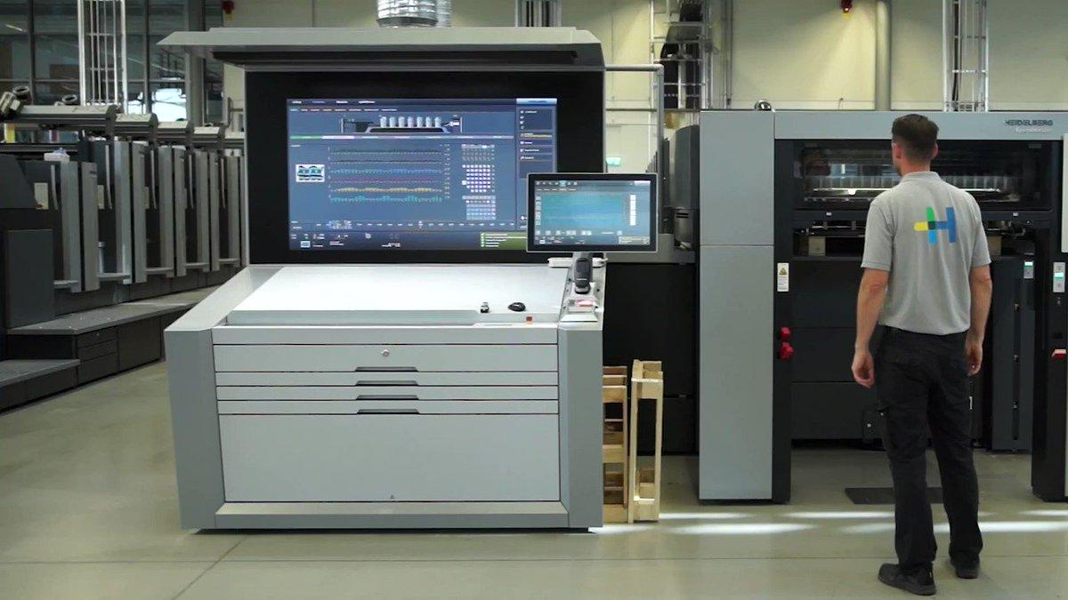 Image for the Tweet beginning: Speedmaster XL-106-6-L Power im Druckbetrieb: