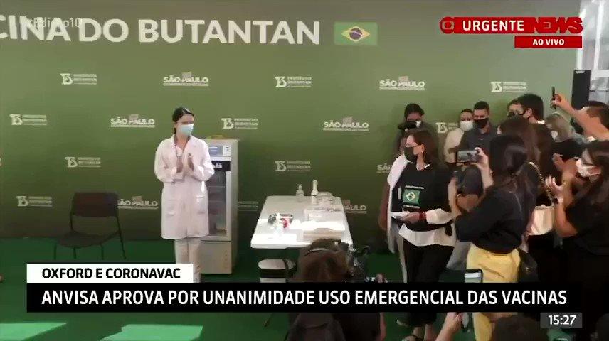 Hoje, menos de uma semana após aprovação da Anvisa, mais de 200 mil brasileiros já receberam a vacina do Butantan. Emocionante ver nossos heróis da saúde que estão se arriscando desde o início da pandemia sendo vacinados. #VacinaJá #VacinaDoButantan #VacinaDoBrasil 🙏