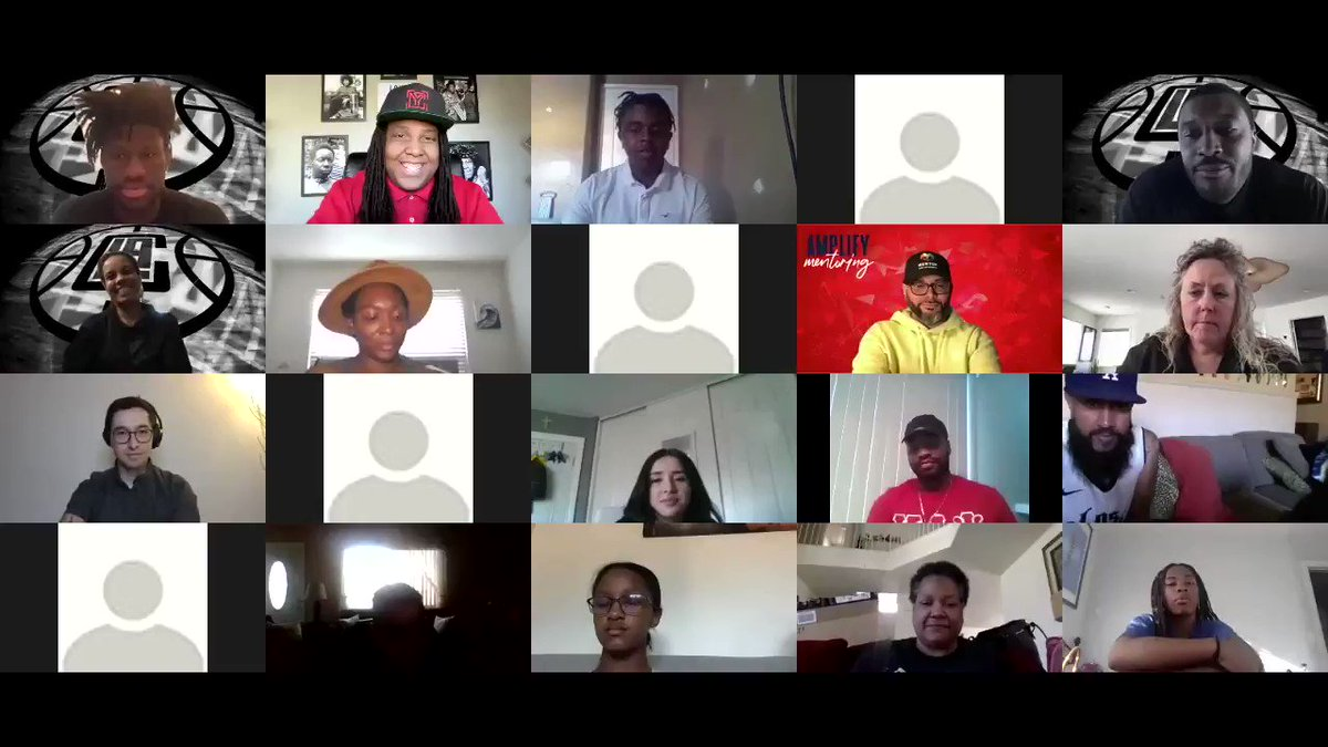 On #MLKDay, @LAClippers rookie @oturu65 & NBA vet @blackrhino83 joined a call with local HS students regarding mentorship and athlete activism.   The call highlighted the work of athlete activists & advice they have for young people working to make change in their communities 🔊