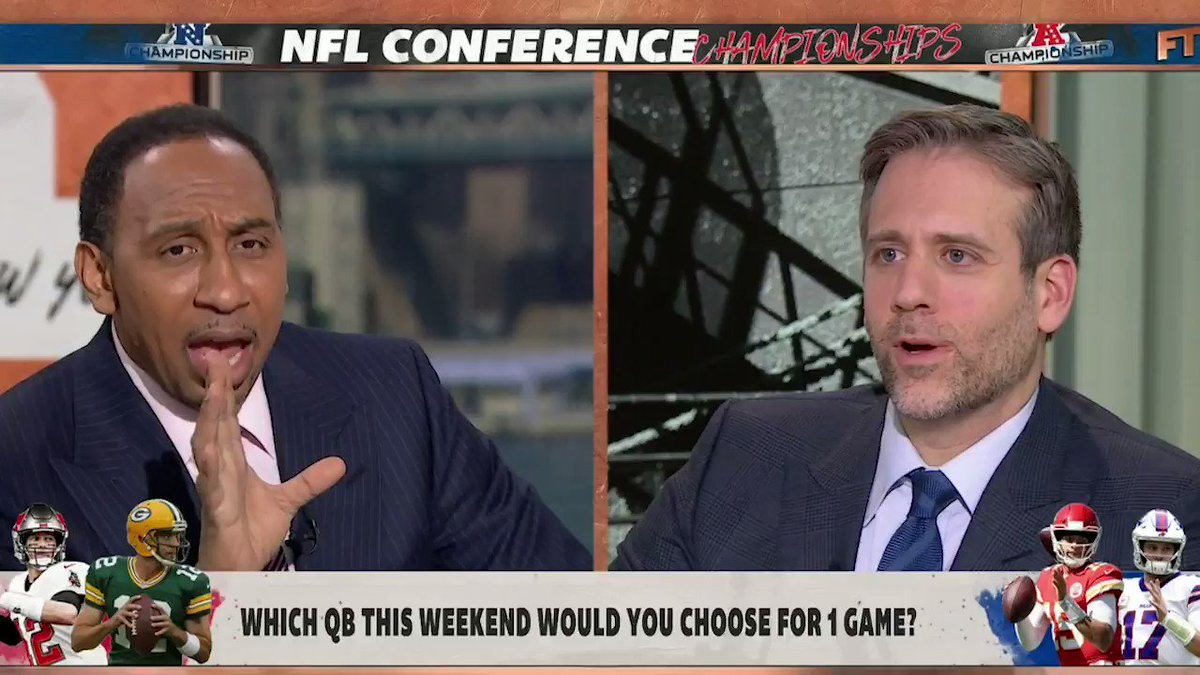 """""""Regardless of the six Super Bowl titles by Brady ... there is not a quarterback alive or dead that I would have taken ahead of Aaron Rodgers!""""  —@stephenasmith"""