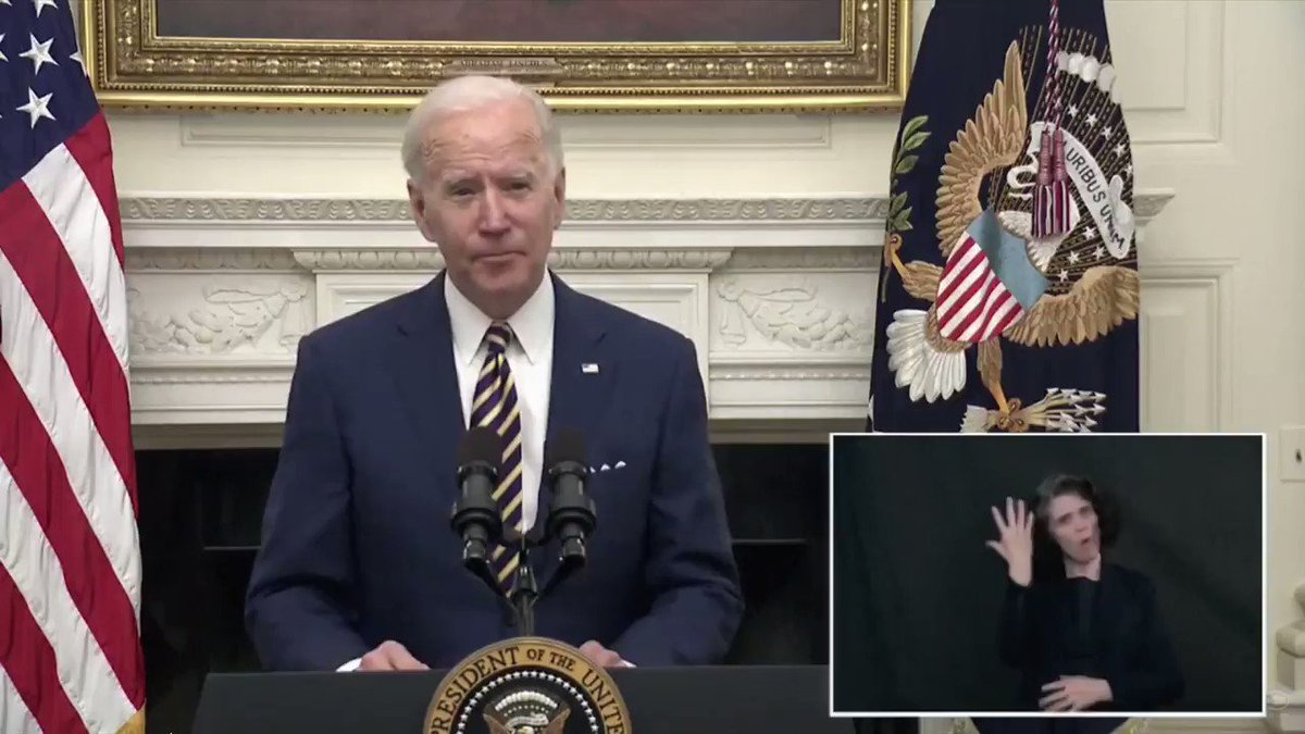 Pres. Biden calls for more COVID-19 relief: 'The COVID-19 package that passed in December … was just a down payment. We need more action and we need to move fast.'