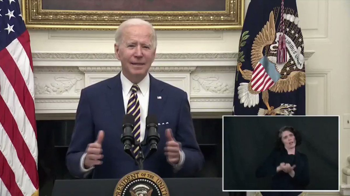 Pres. Biden: 'We're going to finish the job of getting $2,000 in direct payment to folks'