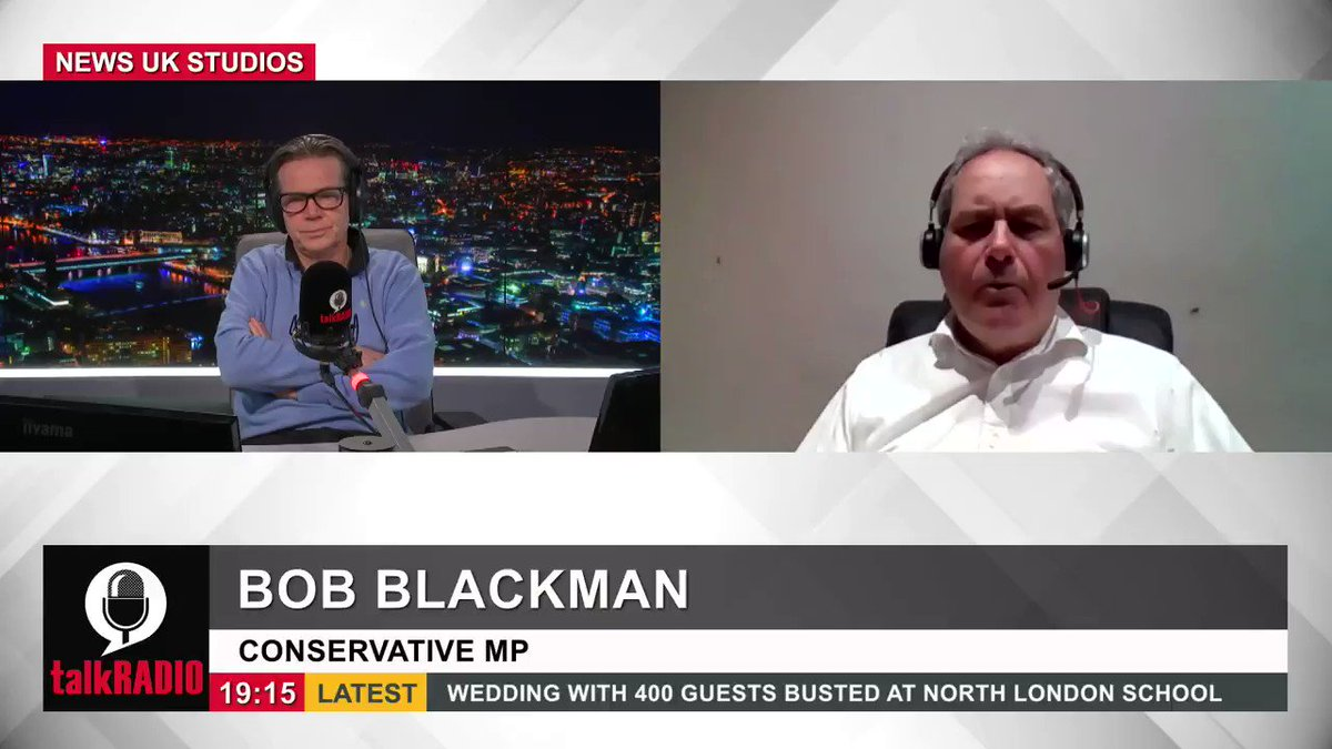 Conservative MP Bob Blackman says the most vulnerable wont be fully vaccinated until May. To get a proper immunity, youve got to have the second dose. Were now saying to people... you have to wait 12 weeks and then another month for the vaccination to be effective. @TVKev