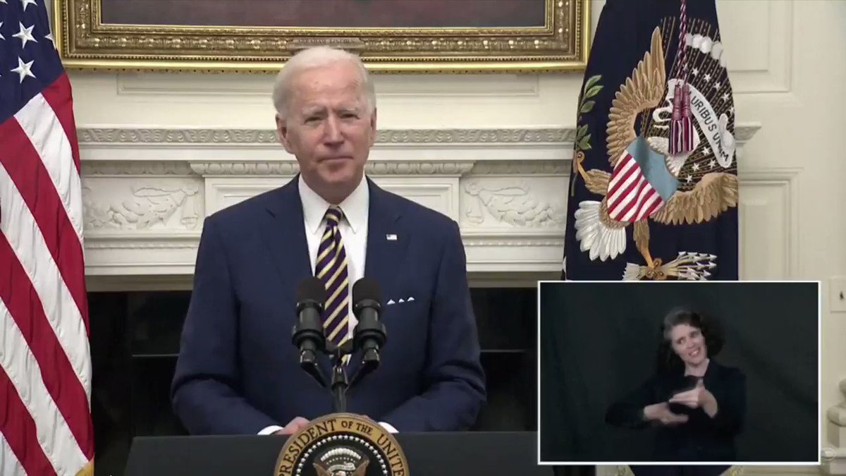 Pres. Biden calls for $15/hour minimum wage: 'No one in America should work 40 hours a week making below the poverty line. $15 gets people above the poverty line.'