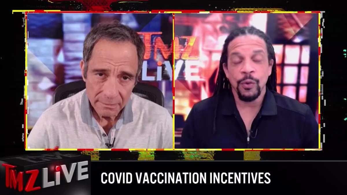 .@TheSharkDaymond stopped by @TMZLive to chat about COVID vaccinations ... WATCH today and check your local listings for showtimes: