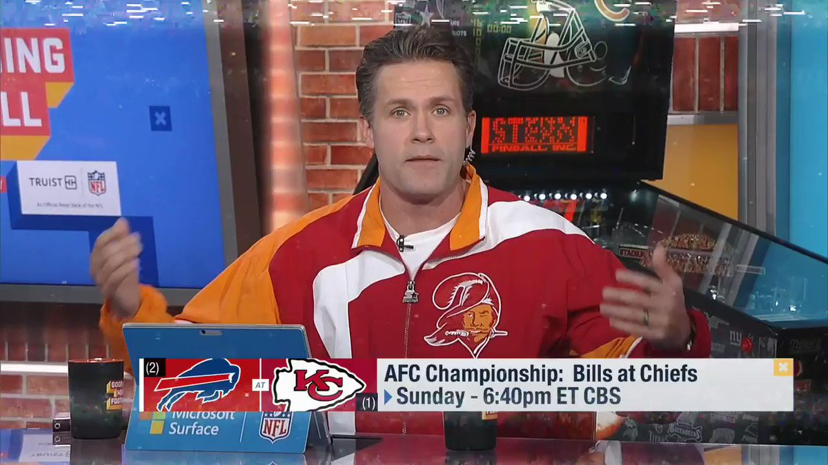Replying to @nflnetwork: .@BuffaloBills. @Chiefs. Let's go.   Allow @KyleBrandt to get you READY for the AFC Title game 😤