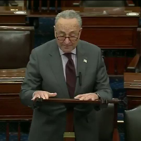 """Senate Majority Leader Schumer on upcoming impeachment trial: """"The House managers will come to read the article of impeachment at 7PM on Monday, January 25th...Healing and unity will only come if there is truth and accountability."""""""