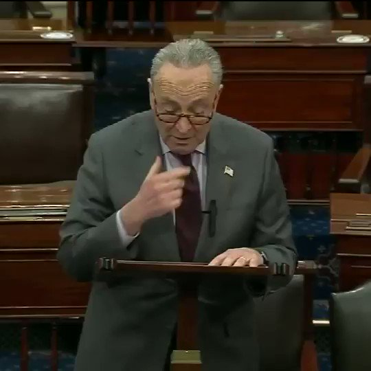 """Senate Majority Leader Schumer outlines plans for the upcoming Senate impeachment trial: """"Once the briefs are drafted, presentation by the parties will commence the week of February 8."""""""