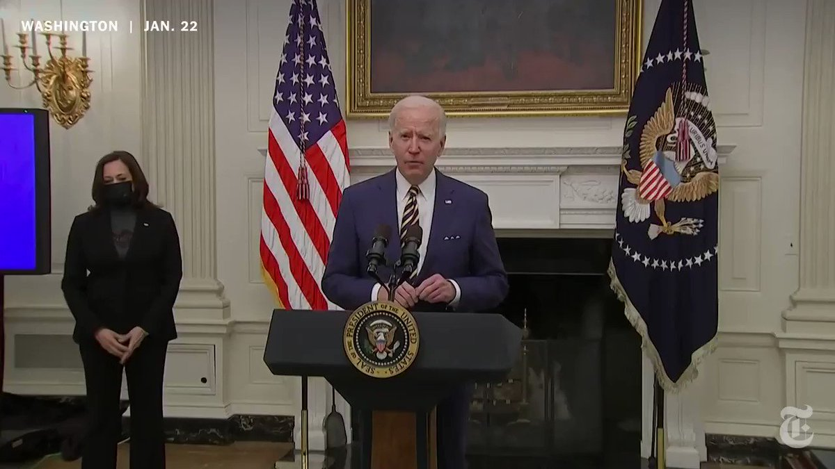 """President Biden signed two executive orders Friday, directing more aid to Americans struggling due to the coronavirus pandemic and laying the groundwork to institute a $15 minimum wage for federal employees. """"This is an economic imperative,"""" he said."""