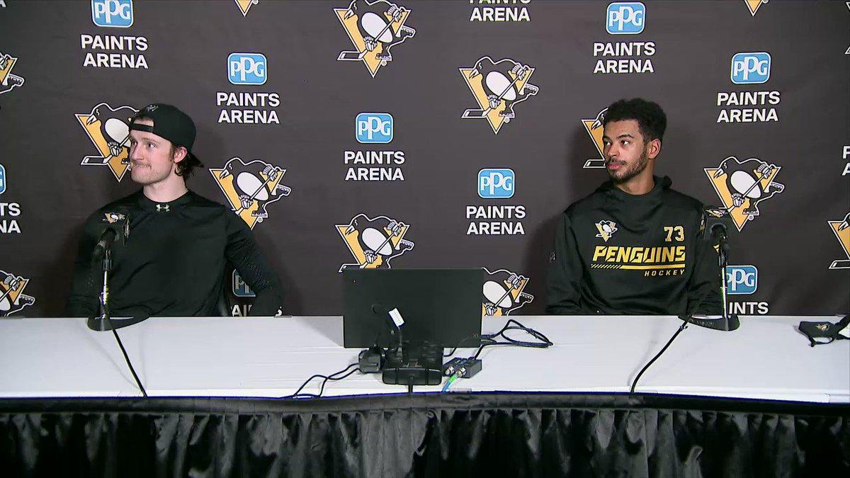 Jared McCann - 1st Goal of the season Pierre-Olivier Joseph - 1st NHL Game, 1st NHL Point, 1st NHL Win #Penguins