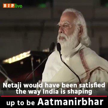 'আমার একটা কাজ করতে পারবে?'  If we cross our hearts and remember Netaji Subhash Chandra Bose, his clarion call still resonates with all Indians. He would have exhorted all of us to contribute in making our nation AatmaNirbhar in all aspects.  - PM @narendramodi   #ParakramDivas