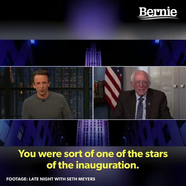Replying to @ShivAroor: Bernie on the Bernie meme 😄👏🏽
