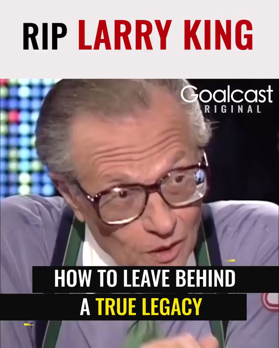 Today we learned the sad news of Larry King's passing. Early this year we had the opportunity to interview Mr. King for this #GoalcastOriginal. He shared with us the details of his personal life and the moment he faced  his biggest fear. #RIPLarryKing