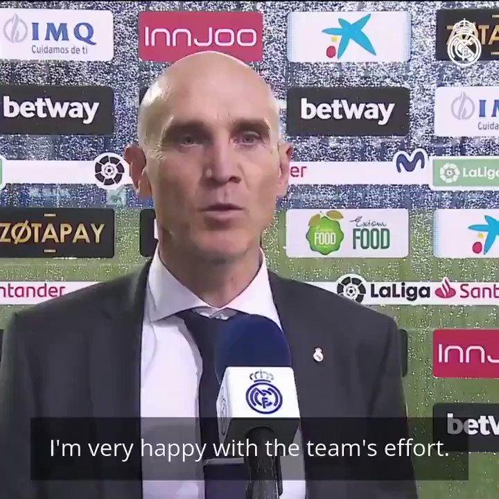 💬👔 بيتوني: ¨سعيد جدا بجهود الفريق. أعددنا المباراة بشكل جيد يوم أمس وقدم اللاعبون أداءً رائعًا.¨ #هلا_مدريد