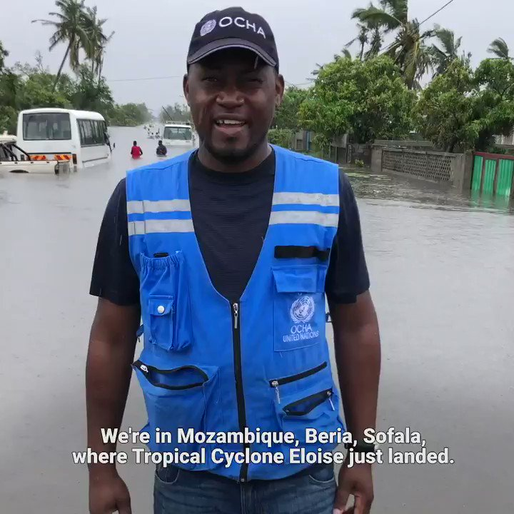 Our colleague Flavio Monjane was in Beira, Mozambique, when #CycloneEloise made landfall, and sent this update.⤵️  Humanitarians are working to assist thousands of affected people.