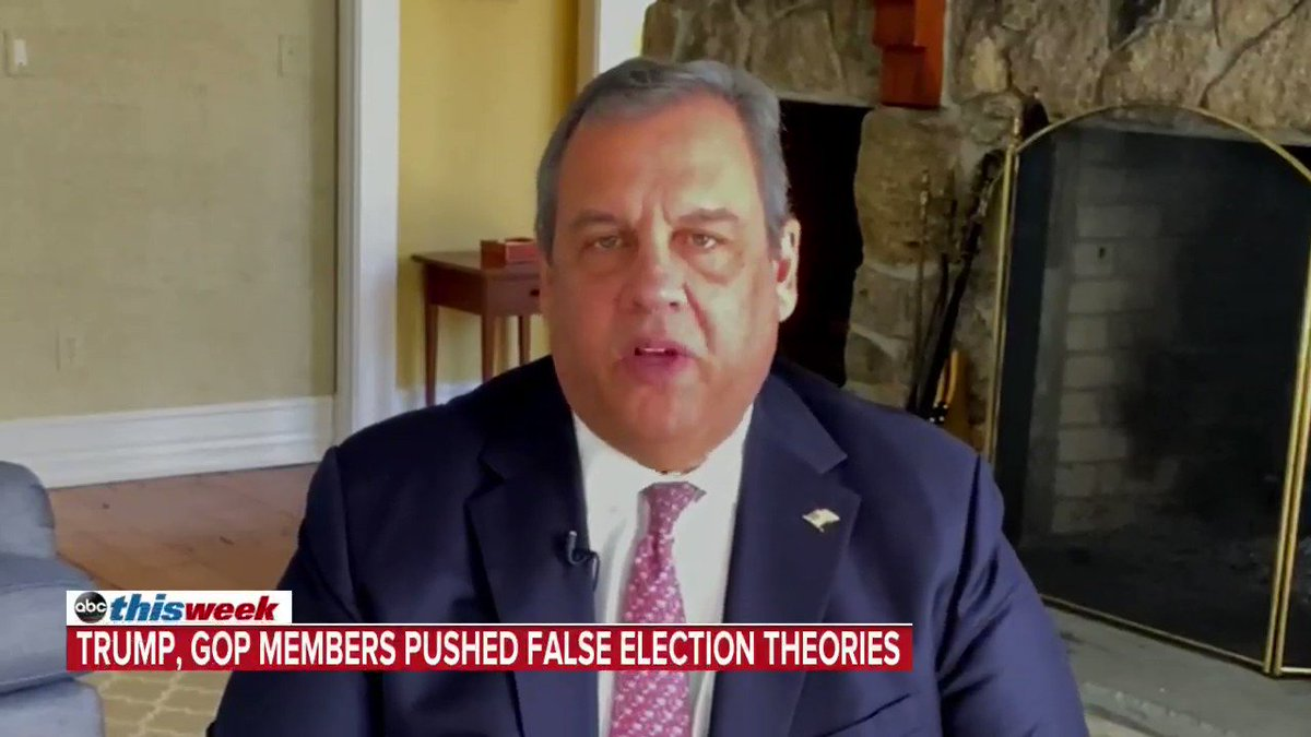 """""""This election was not stolen … there were no type of irregularities that would have changed the result in one state,"""" Chris Christie says, adding that Republicans making the claim are trying to score """"political points"""" with people Trump """"lied to."""""""