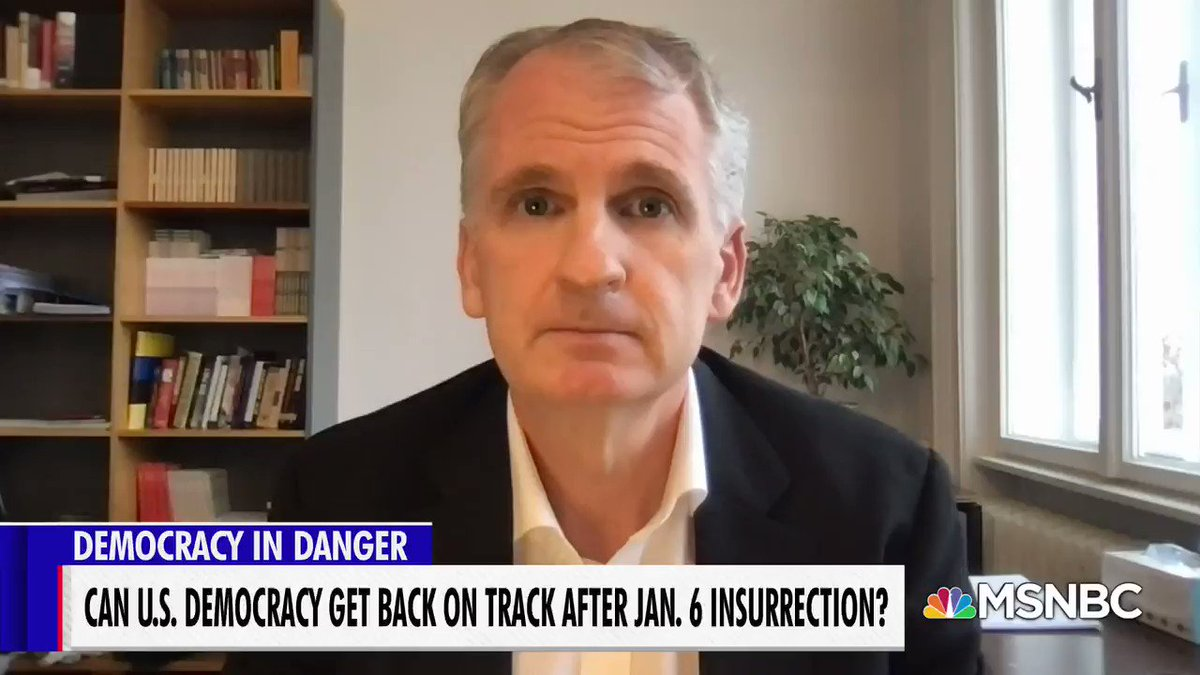 "It was the telling and spreading of ""a big lie"" after defeat that led Hitler to power in post-WWI Germany. @TimothyDSnyder says the U.S. is now facing a challenge. We can keep telling ourselves lies, or we can do the right thing. Face the facts, get history right. #velshi"