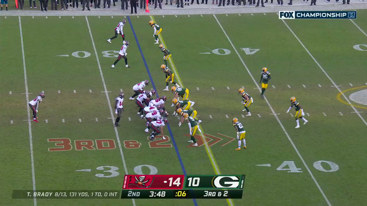 Chris Godwin is carving up the Packers D 🔪 🧀   Packers need an answer for him 😠   #GoBucs #GoPackGo #NFCChampionship