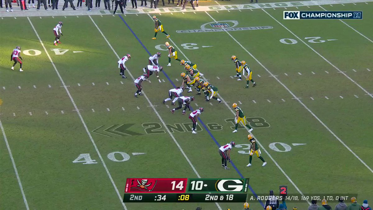 Third INT of these #NFLPlayoffs for Sean Murphy-Bunting! #GoBucs #NFLPlayoffs  📺: #TBvsGB on FOX 📱: NFL app // Yahoo Sports app: