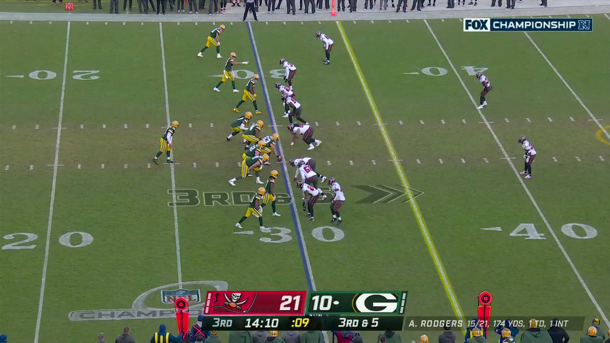 Another turnover for the Bucs defense.  Whitehead and White combine on the fumble recovery. #GoBucs #NFLPlayoffs  📺: #TBvsGB on FOX 📱: NFL app // Yahoo Sports app: