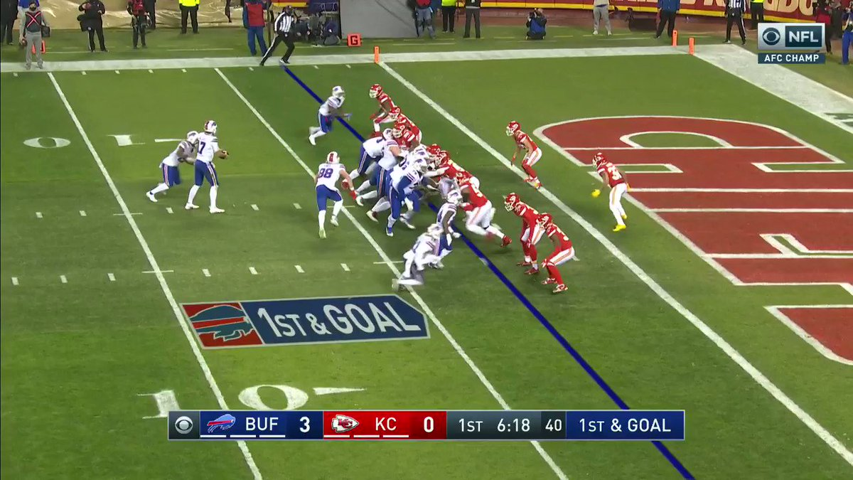Bills lead 9-0 after Allen connects with Knox for the touchdown!!!  #BillsMafia | #ChiefsKingdom | #NFLTwitter   @FrankDangelo23