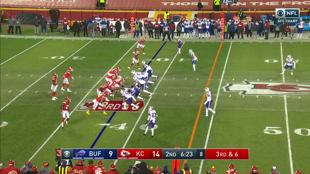 Such a playmaker. @PatrickMahomes  #RunItBack #NFLPlayoffs  📺: #BUFvsKC on CBS 📱: NFL app // Yahoo Sports app:
