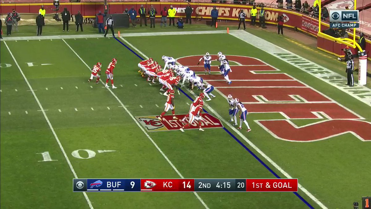 Chiefs having their way with Bills in the second quarter.  It's now 21-9 Kansas City.  @FrankDangelo23