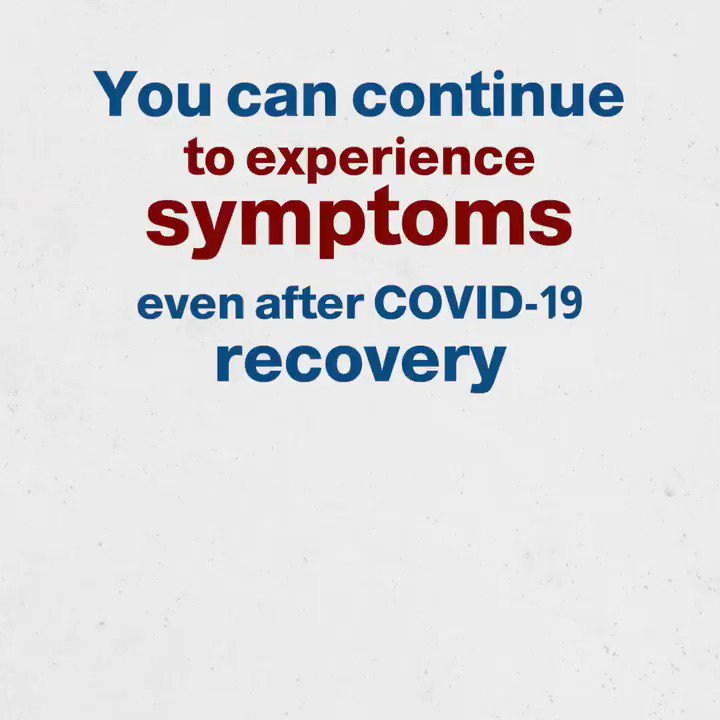 #COVID19 symptoms such as fatigue, headaches, body aches, coughing, and more can continue to linger even months after recovery. #TimeToAbide