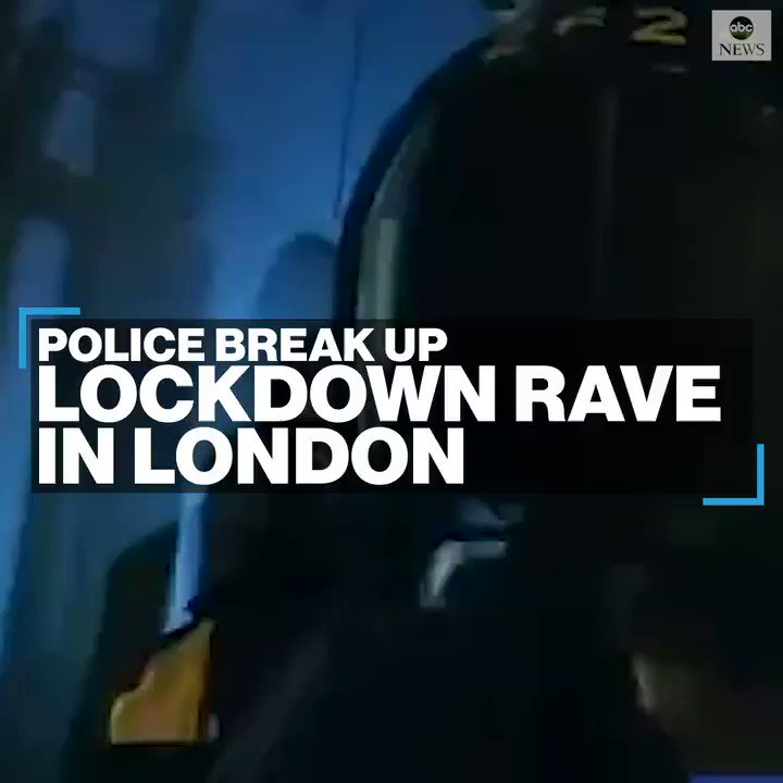 RAVING MAD: Police storm an illegal rave with over 300 people partying in a locked railway arch amid stay at home restrictions in London, England.