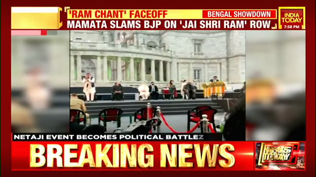 Netaji event becomes political battlezone. Watch this report on #Newstrack with @Rahulkanwal  (@manogyaloiwal, @iindrojit) #WestBengal #TMC #BJP #Politics #ITVideo