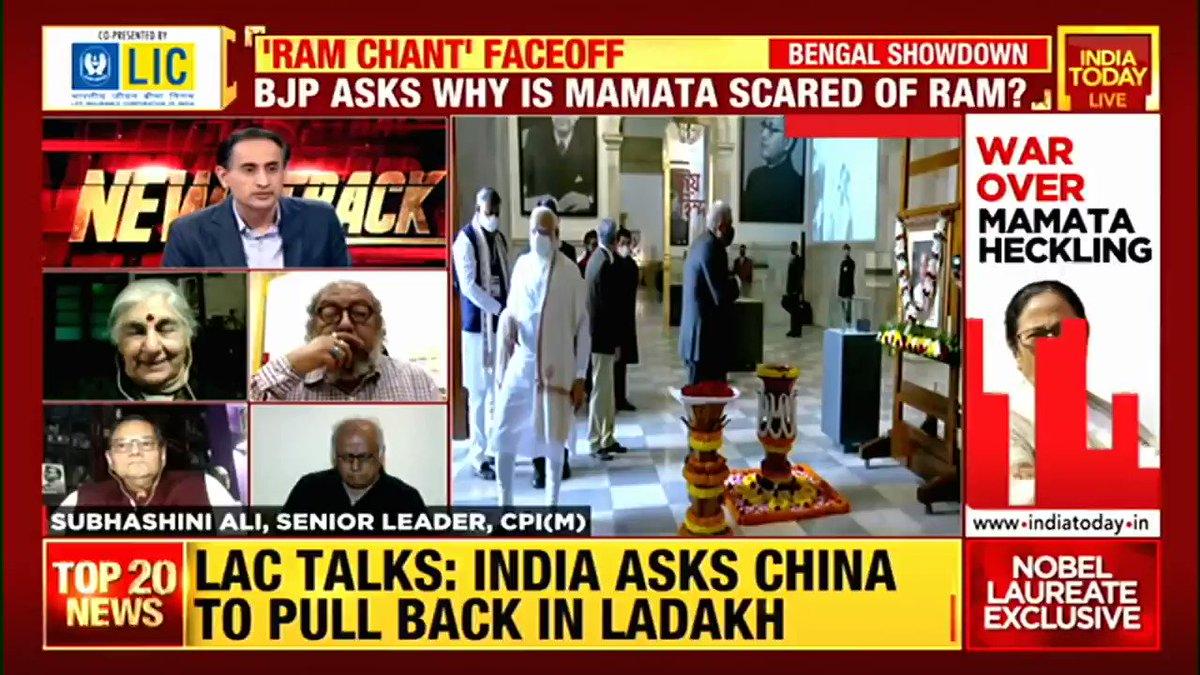 CPI(M) leader Subhashini Ali says religious slogans shouldn't be raised at such rallies.  #Newstrack with @RahulKanwal  #WestBengal #TMC #BJP #Politics #ITVideo