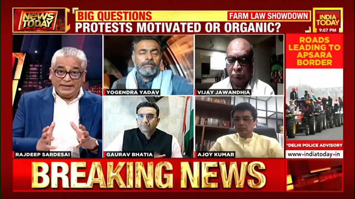 Farmers are the guest this Republic Day. Tomorrow we will be celebrating the supremacy of the people: @_YogendraYadav, President, Swaraj India #NewsToday with @sardesairajdeep  #FarmersProtest #TractorRally #RepublicDay #ITVideo