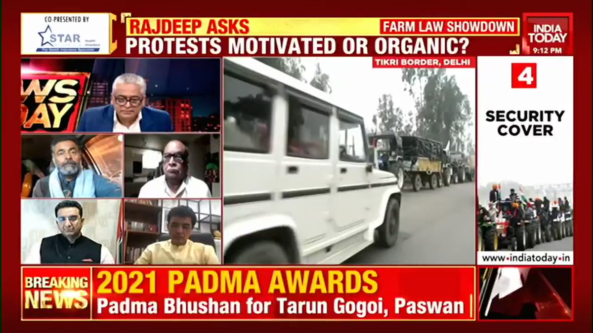 Why did farmers not choose any other date for their rally? BJP spokesperson Gaurav Bhatia (@gauravbh) questions farmers' tractor rally. #NewsToday with @sardesairajdeep  #FarmersProtest #TractorRally #RepublicDay #ITVideo