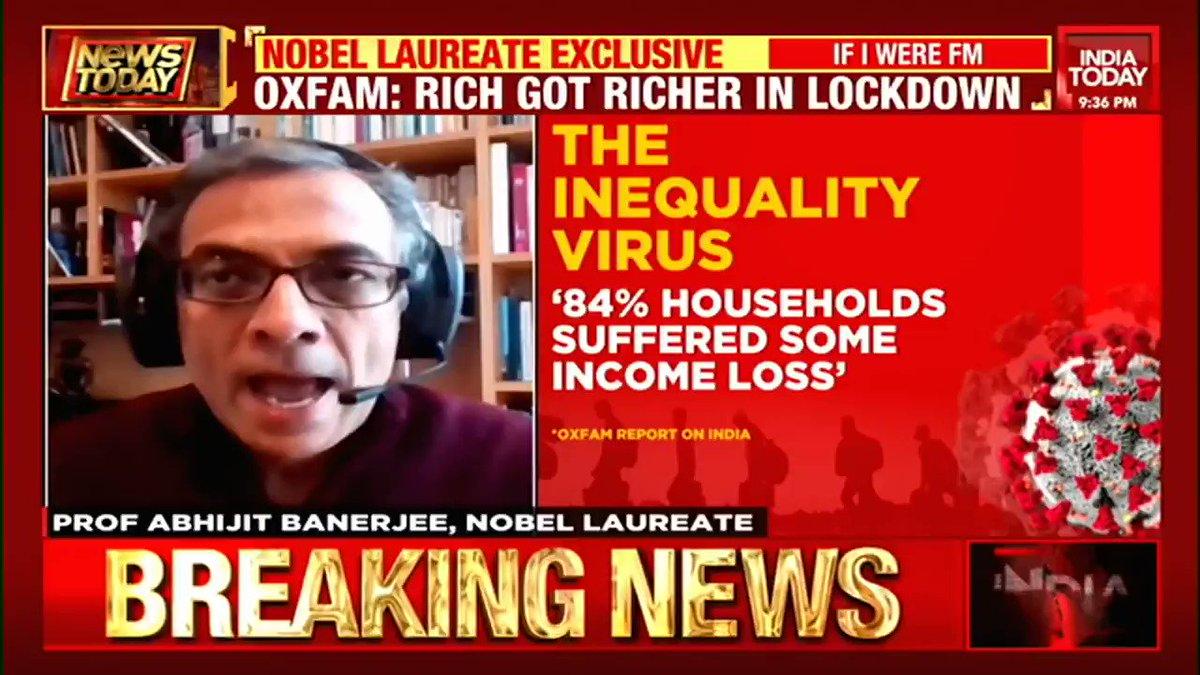 #EXCLUSIVE - Pandemic punished the poorest of poor. How can this be fixed?  Prof Abhijit Banerjee, Nobel Laureate, speaks to @sardesairajdeep on #NewsToday #Business #Economy #coronavirus #ITVideo