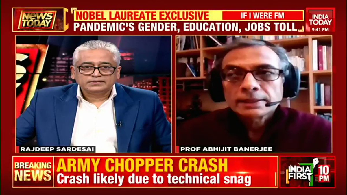 #EXCLUSIVE - Prof Abhijit Banerjee, Nobel Laureate, shares his views on how the #Budget2021 be made to boost India's economy. #NewsToday with @sardesairajdeep #Business #Economy #coronavirus #ITVideo