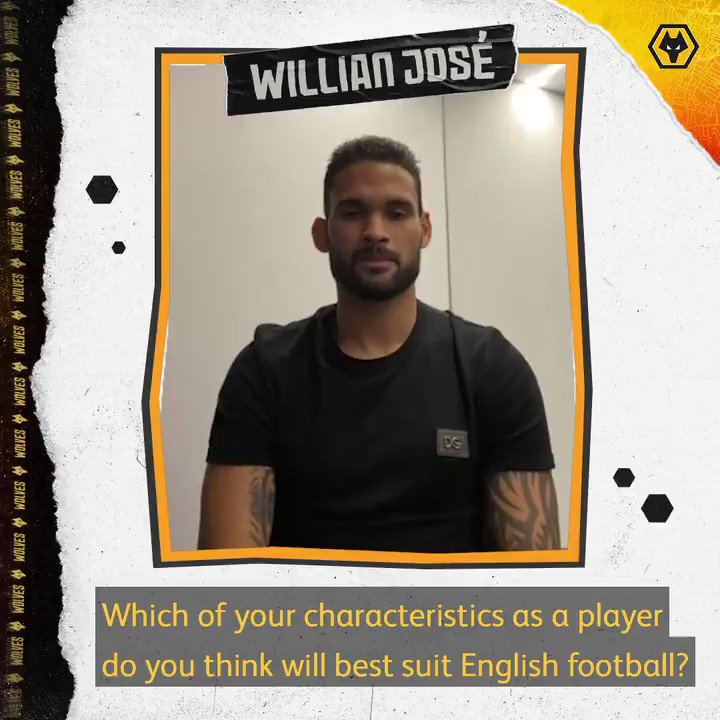 """""""I've seen some Wolves games and I think that I'll adapt well.""""   @willianjose19 on his strengths and what he hopes to bring to the @premierleague.  🇧🇷🗣"""
