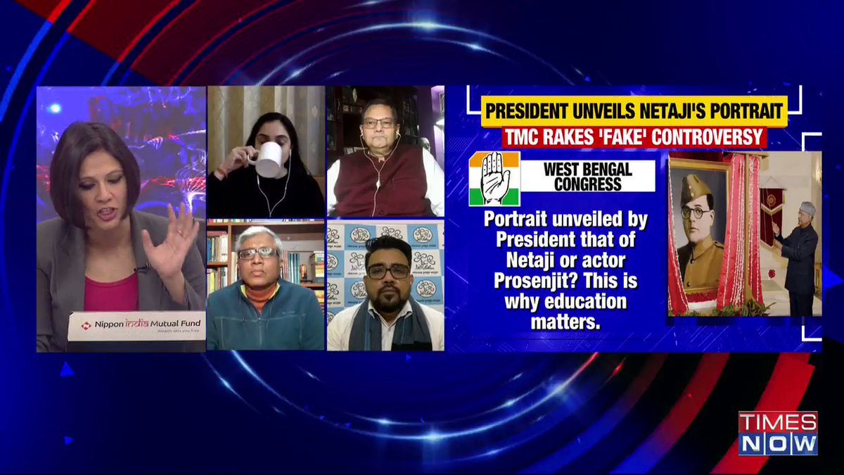 This is a very unfortunate controversy. We should be wise in choosing our words when it comes to the President. It should not have been politicised: @ashutosh83b, Political Analyst, tells Padmaja Joshi on @thenewshour AGENDA. | #NetajiPortraitFactCheck