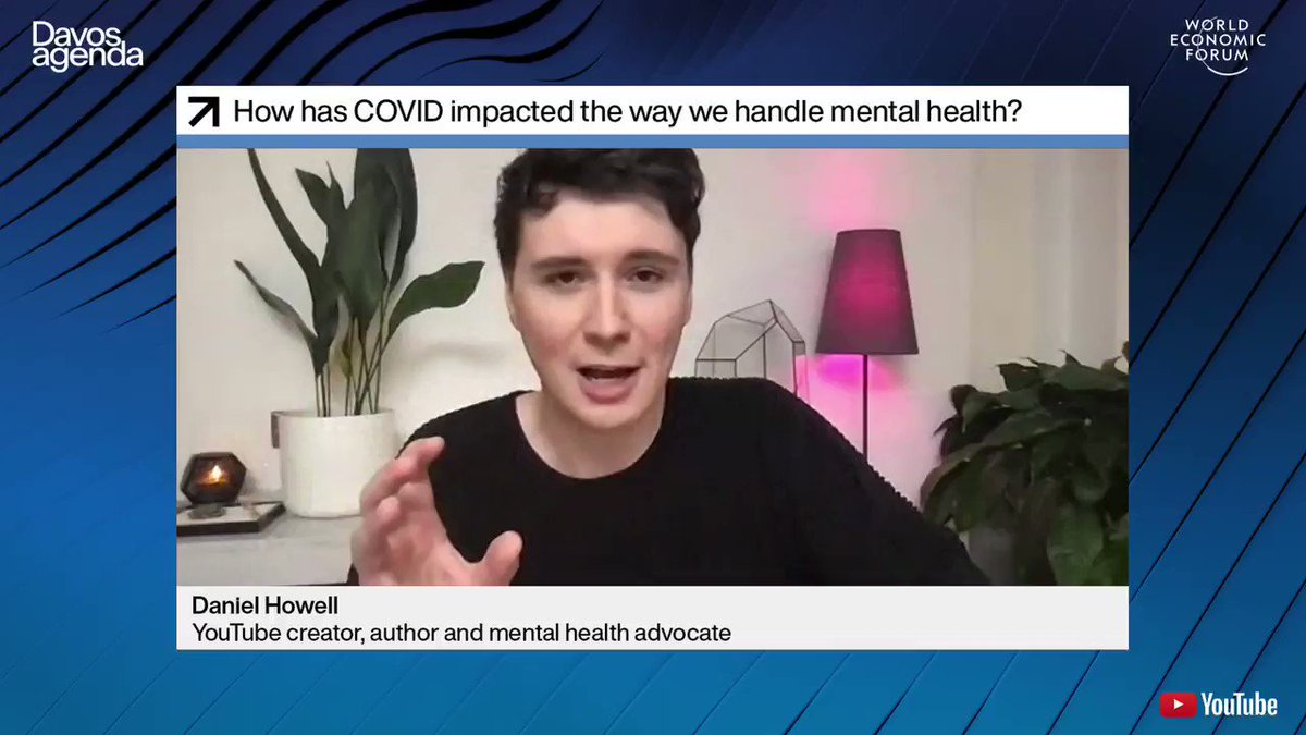 .@danielhowell, #mentalhealthadvocate and YouTube personality, is calling on all of us to become an ambassador for mental health in order to become healthier and happier.  Watch the full session here:  #DavosAgenda