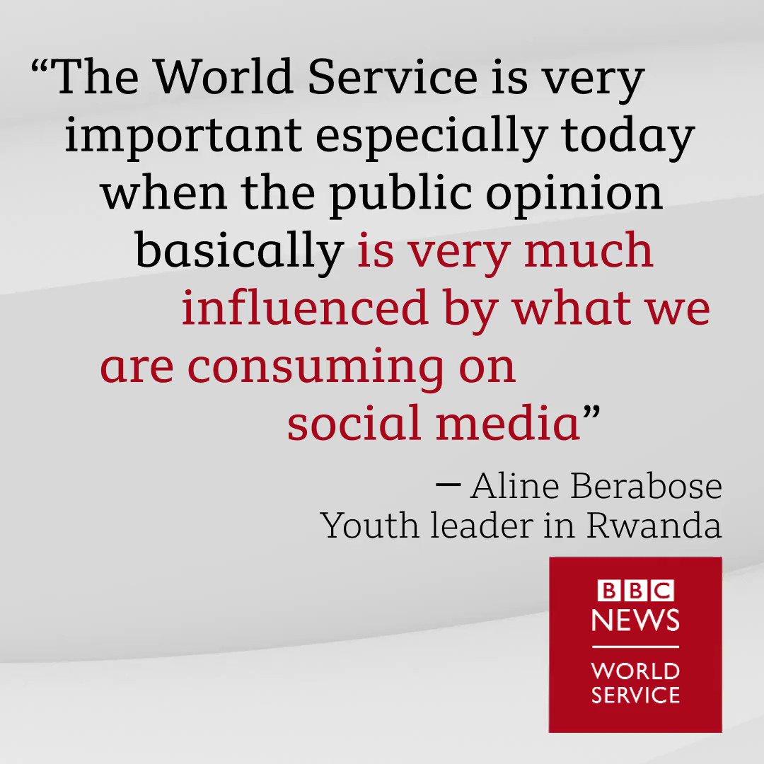 A trusted force Aline Berabose #BBCWorldService