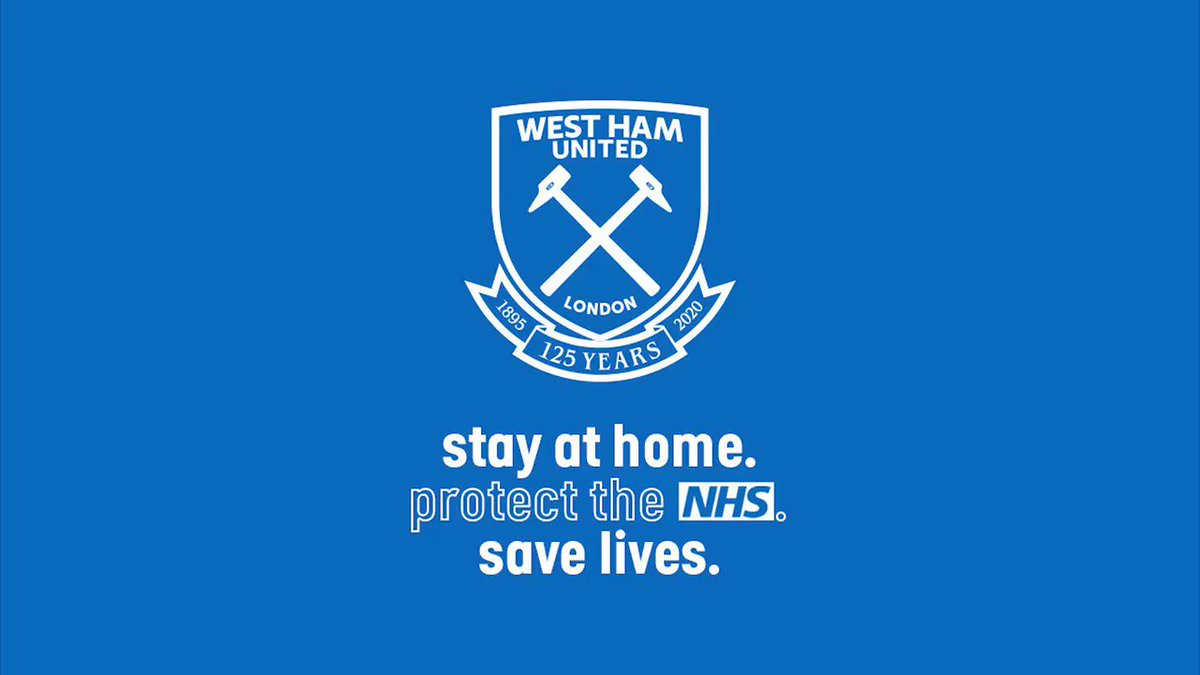 Replying to @WestHam: Please follow the rules and help save lives, Hammers 🙏  💙 Stay Home  💙 Protect the NHS  💙 Save Lives