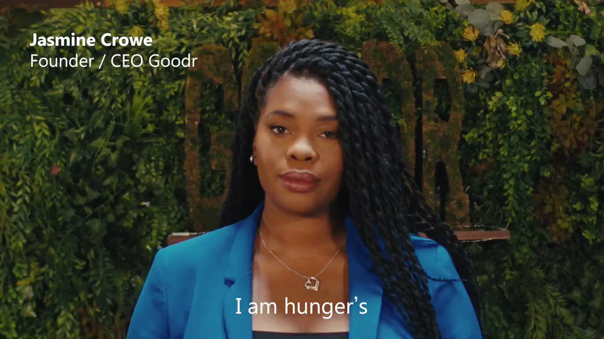 Jasmine Crowe, CEO of @TheGoodrCo, is on a mission to reduce food waste and feed millions. Find out how she's changing the way to approach hunger—through smart technology and community engagement.   Learn more: