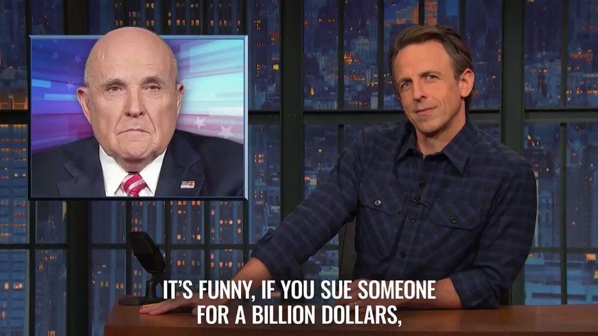 """$1.3 billion from Rudy?! Good thing vampires are immortal, because he'll have work the rest of his life to pay that off."" – @SethMeyers #ACloserLook"