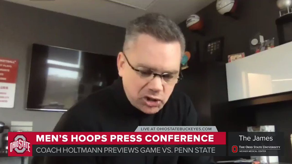 🗣🏀 @ChrisHoltmann talks about the challenge @OhioStateHoops will face against Penn State on Wednesday night.  ➝   #GoBuckeyes