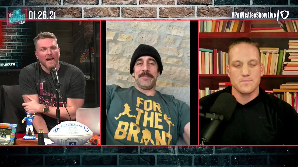 """""""There wasn't some agenda doing this, it was like fucking talk to Pat & AJ every week? That sounds awesome..  But what it's allowed me to do is silence all the douchebags who were talking for me""""  @AaronRodgers12 #PatMcAfeeShowLIVE"""