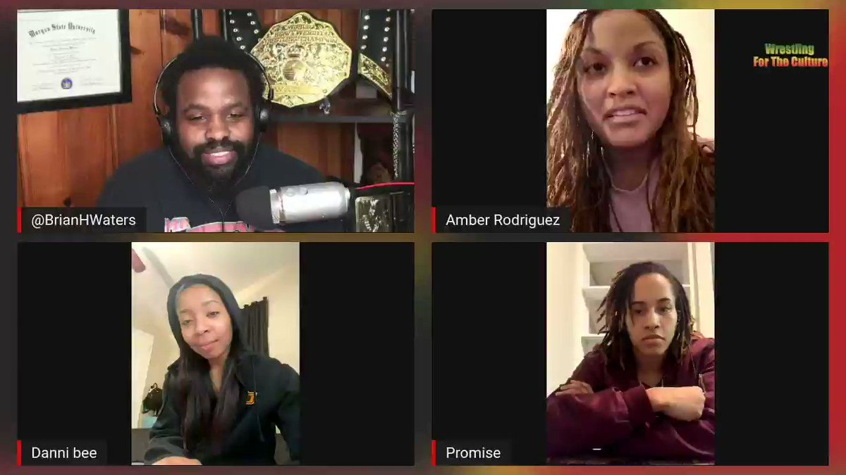 #TBT: @TheQueenDom2021 discuss how they all came together on #WrestlingForTheCulture @Amber1Rodriguez @_RebelBuddbist @dannibeeokc.  #WomensHistoryMonth  Watch now: