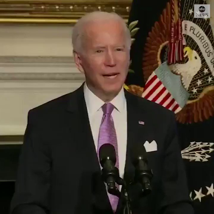 """We now have a national strategy to beat COVID-19. It's comprehensive. It's based on science, not politics. It's based on truth, not denial,"" says Pres. Biden.  ""Our plan will take time."""
