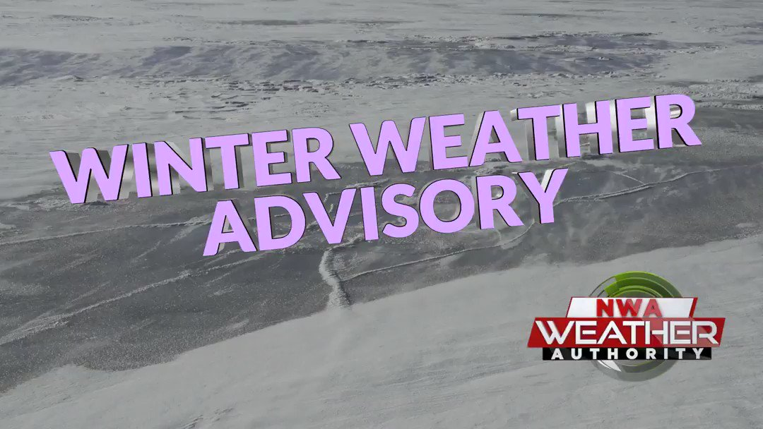 A WINTER WEATHER ADVISORY has been issued for portions of the KNWA/FOX24 area until Jan 27 9:00AM CST. A winter weather advisory means wintry weather is expected within the area and may impact travel. #ARwx #OKwx #MOwx