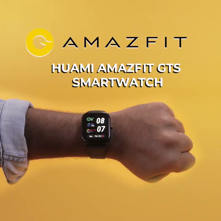 Style meets health with the Huami Amazfit GTS smartwatch! Its stunning design and countless features make it a one of a kind smartwatch. Get yours today at Flipkart for Rs. 9,999/- only.